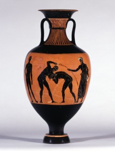 Panathenaic amphora (332 BC), British Museum, London