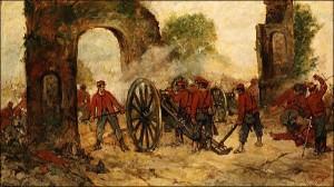 Volturnus' battle - Painting