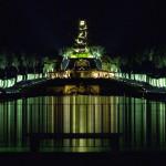 Fontane e Cascata di notte