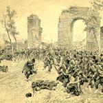Batalla del Volturno - Litografía